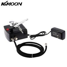 KKMOON Airbrush Compressor Air Brush Kit 0.3mm 7cc Spray Nail Art Paint Gun U8J1