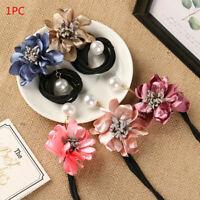 Women Wild Hair Ring Pearl Flower Magic Bun Maker DIY Hair Making Tools