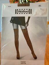 Wolford Fishnet Stay Up Caramel Tights/Pantyhose NWT Size Medium~reg. 58$