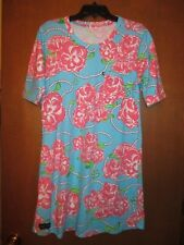 "Simply Southern Preppy Long Top or Dress Undrarms21.5"" Lngth 36"" Roses & Pearls"