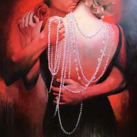 "Original Oil/Canvas Art 48"" x 48"" Realism / Romanticism ""INTIMATE DANCE"", Europe"