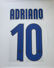 Adriano # 10 Inter Milan 2007-2008 Away Authentic Player Name And Number