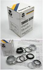 """TANGE 1"""" Threaded HEADSET CHROME SATIN BLACK for steel frame fixed track"""