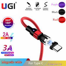 2A 3A Magnetic Cable Type C  540° Rotation Fast Charge data cord For Samsung S10