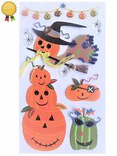 Jolees Boutique HALLOWEEN PUMPKINS 3D Stickers - Witch Pirate Jack o Lantern