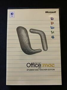 Microsoft Office 2004 Student & Teacher Edition For Mac DVDROM