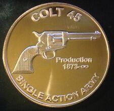 1 OZ COPPER ROUND SINGLE ACTION ARMY COLT 45