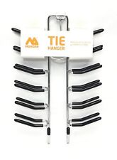 24 Bar Tie Hanger Scarfs & Belt Rack Wardrobe Organiser Accessory Non-Slip Home