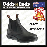 Redback UBBK Non Safety Work Boots. Elastic Sided Bobcat Leather AUSTRALIAN MADE