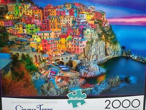 Cinque Terre Italy 2000 piece jigsaw puzzle Buffalo NEW
