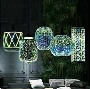 3D Glass Fireworks Shade Ceiling Lamp Pendant Lights Lighting Fixtures Home Deco