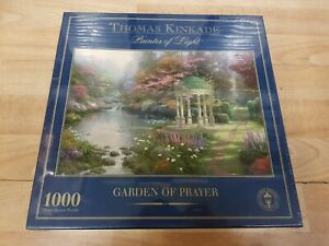 Thomas Kinkade Garden of Prayer 1000 Piece jigsaw Puzzle Beand New Gibsons