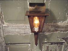 Vintage Brass Light Fixture Coach Candle Lantern Antique Patina 17 18th century
