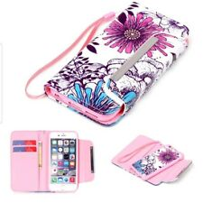 W/Stand Pouch Flip Card Holder Wallet Case Cover Leather For iPhone 5/5S