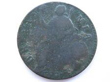 1697 William III Halfpenny, 1st issue, BMC 647, Fair. ACS