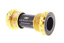 Aerozine BB-05-RD Road Bike Bottom Bracket/Sealed BB/English BSA/68mm 90g/Gold