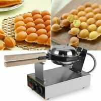 Stainless Electric Bubble Egg Cake Maker Oven Non Stick Waffle Baker Machine