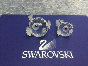Swarovski Large & Small Blowfish 7644041000 010013 & 7644030000 012724. MINT