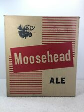 1960's Moosehead Ale Beer Box 6 Pack Large Empty Cardboard Canada NB Saint John