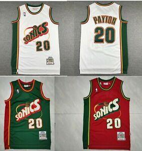 Seattle Supersonics Gary Payton Hardwood Basketball Jersey