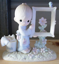 Precious Moments TO GOD BE THE GLORY Artist Figurine Boy Flower Painting E 2823