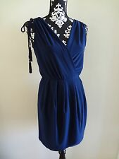 BOSTON PROPER Faux Wrap Knit Dress - Navy Blue - Medium (10/12) - $98 - NWT