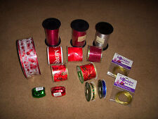 """Lot of Curling Ribbon, 2.5"""" Wired Ribbon, Trim Ribbon & Bow Wire New! 70 Yards"""