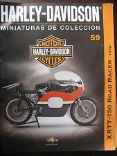 FASCICULE 59  MOTO COLECCION HARLEY DAVIDSON XR TT 750 ROAD  RACER 1972