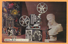 Chrome Advertising Postcard - Bolex Movie Camera and Projector