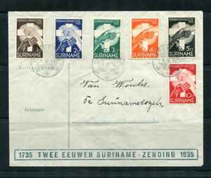 Suriname cover with complete set of semi-postals from 1935