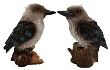 Kookaburra on Stump Pair Ornament Statue Figurine Sculpture Set/2 Small 9 cm