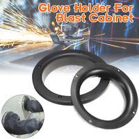 "1PC 4""(210mm) / 6""(250mm) Sand Blast Glove Holders Black for Blast Cabinet"