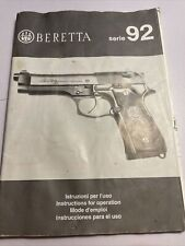 OEM FACTORY BERETTA 92 9mm Pistol Instruction Book Owners Users Manual