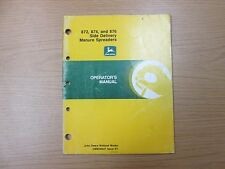 JOHN DEERE SIDE DELIVERY MANURE SPREADERS OPERATOR'S MANUAL PART # OMW40627