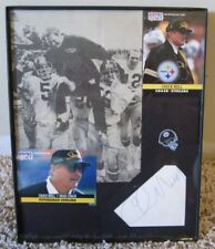 VINTAGE CHUCK NOLL CUT AUTOGRAPH & PHOTO COA PITTSBURGH STEELERS RARE SIGNATURE