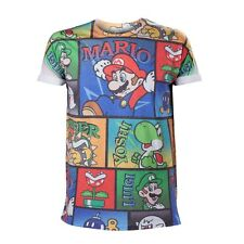 Nintendo T-Shirt Mario & Co All Over Print [Different Sizes] (NEW)