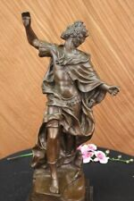 Hand Made King Military Gift Collector Bronze Marble Statue decor figurine