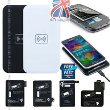 UK Qi Wireless Power Pad Charger + Receiver for Samsung Galaxy Note 3 N9005