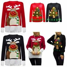 Acrylic Christmas Scoop Neck Jumpers & Cardigans for Women