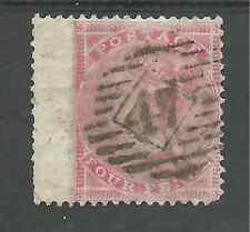 SG66 THE 1857 QV 6d CARMINE  USED  47 CANCEL CAT £125