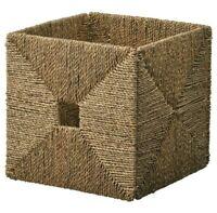 "(Lot of 2) Ikea KNIPSA Basket Seagrass 12.5"" x 13"" x 12.5"" New"