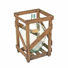 Crated Demijohn, Carboy with Wood Crate
