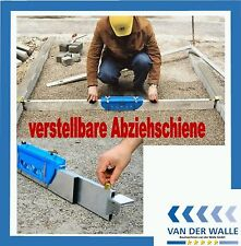 Pflaster Abziehschiene Planumschiene Abziehlehre für Schüttgüter 1,00 - 1,75 m