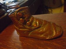 Vintage Victorian Style Bronzed High Side Button Baby Shoes Unmounted