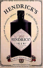 Hendricks Gin Orig AD Poster MOST UNUSUAL GIN 2'x3'Rare 2009 MINT