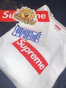 Supreme Box Logo L/S Tee White Medium