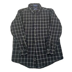 Vintage Pendleton Blue Check Pure Virgin Wool Shirt - Mens Large