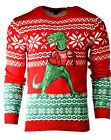 Men's 33 Degrees DINOSAUR Holiday Party Ugly Christmas Xmas Sweater Sz M A935