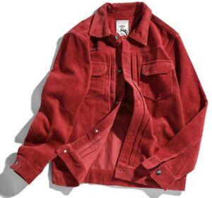 Spring Men's Single Breasted Corduroy Jacket Long sleeve Retro style Fashion New