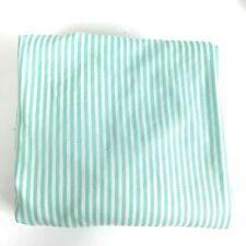 Vintage Baby Bedding Fitted Crib Sheet Aqua Stripes USA Made